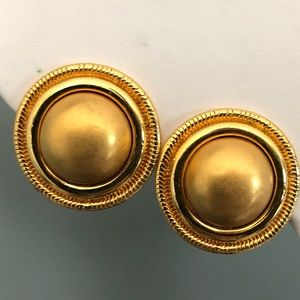 Monet Large Round Clip On Earrings